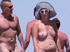 Spying On Nudists At A Beach In France