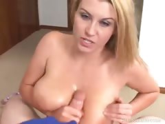 Big Tit Babe Sara Stone Plays With A Huge Cock