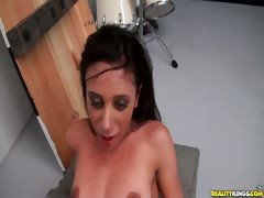 Watch this petite hottie get the ride of her life.