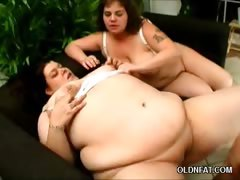 Fat Older Babes Sharing a Cock