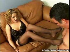Blonde Foot Job