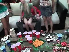Xmas sex party with college teens drinking and fucking