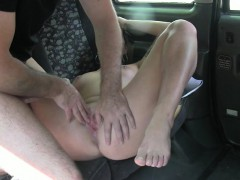 Slut fucked then facialed and gets payed by the driver