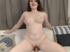 Huge tits pretty babe loves to play her tight pussy with