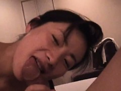 Asian Housewife Sucking Cock And Fucking POV