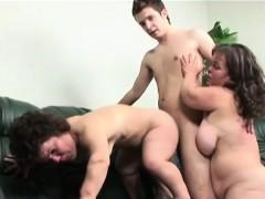 Teen Guy Fucks two Mature Midget Sluts